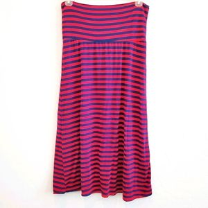 Azules striped Midi Skirt Size Large Red/Blue